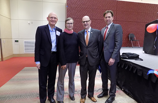 Herbert Quelle, Consul General,Consulate General of the Federal Republic of Germany; Petra Roggel, Director, Goethe-Institut Chicago; Joerg Oberschmied, Honorary Consul for Switzerland; Reinhold Krammer, Honorary Consul for Austria