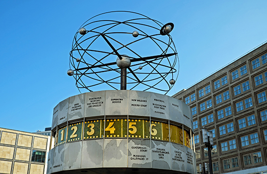 The Urania World Clock in Berlin.