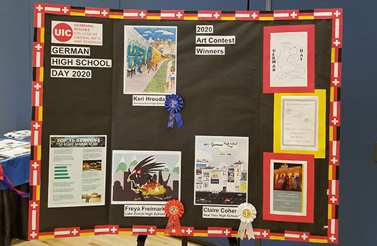 A poster displaying the three 2020 cover art winners