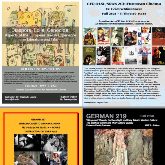 Germanic Studies Classes Fall 2021